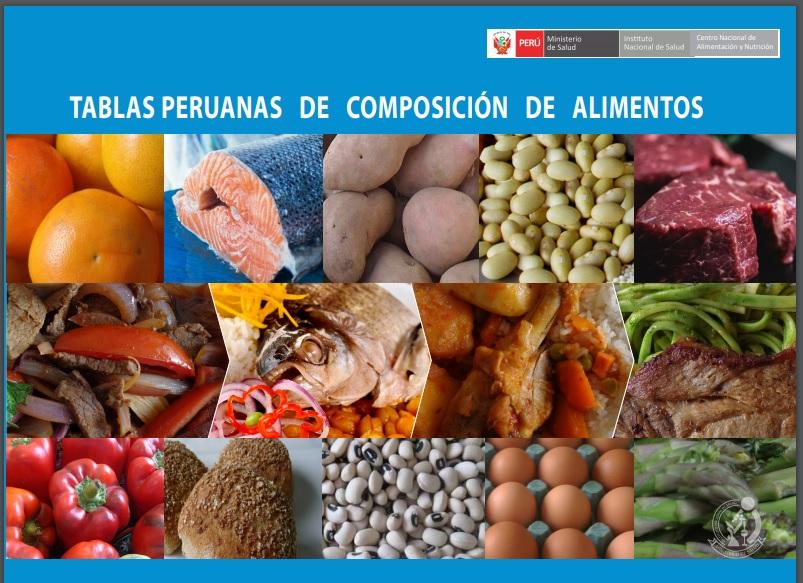 Tabla Calorias Alimentos Cocinados   Tablas Peruanas De Composicion De Alimentos