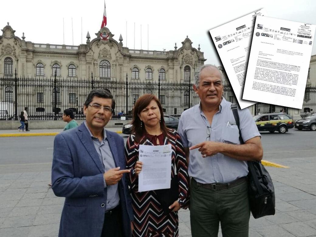 De izquierda a derecha: Excongresista Jaime Delgado, Saby Mauricio Alza del Colegio de Nutricionistas del Perú (CNP) y Luis Lazo de ForoSalud / FOTO: CNP